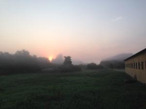Sunrise in the Mist